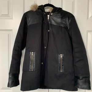 {Sandro} black winter parka size L